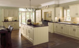Mobília branca elegante da cozinha do estilo europeu dos gabinetes de cozinha de Ritz
