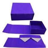 Rectángulo de regalo de empaquetado plegable plano hecho a mano de la cartulina de la alta calidad