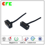 conetor Wearable preto do carregador de 4pin Magentic