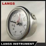 calibrador de presión llenado líquido 064 de 63m m (PUNTERO AMONESTADOR ROJO)