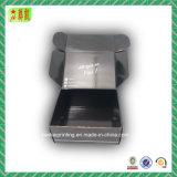 Schwarzer gewölbter Papierkasten mit Ihrem Firmenzeichen