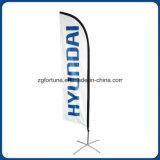 Banheira de venda Promoção exterior publicidade personalizada arvorando pavilhão de praia de Bandeira de penas de Banner