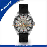 Caso o indicador de esqueleto de design especial relógio de pulso automático