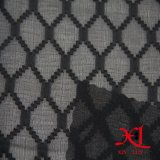 Black Diamond Tecido Chiffon Seda Jacquard para vestir