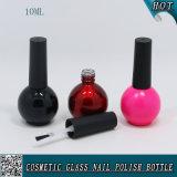 10ml de color personalizado vacío vacío gel de uñas de vidrio botella de vidrio