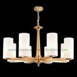 Illuminazione moderna del lampadario a bracci del metallo con la tonalità di vetro (SL2283-6)