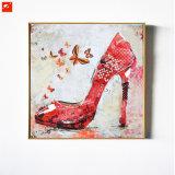 Peinture à l'huile rouge à talons hauts sexy Reproductions modernes sur toile