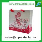 Luxus eingebrannter Papppapier-Geschenk-Beutel mit Korn-und Seil-Griff