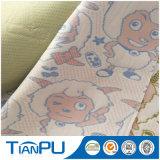Cartoon Design 100% Poly Knit Jacquard Tissu pour bébé Matelas