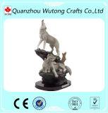 판매를 위한 수지 수공예 야생 생물 늑대 동상