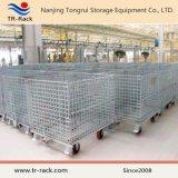 Складывать и Stackable клетка хранения/гальванизированный контейнер ячеистой сети