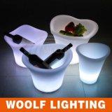 재충전용 LED 얼음 양동이, 가벼운 얼음 양동이 나이트 클럽 맥주 LED에 의하여 점화되는 얼음 양동이