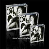 アクリルのプレキシガラスの磁石の写真フレーム
