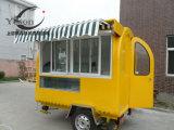 Het Voedsel die van de straat de Aanhangwagen van de Kar van de Kiosk Mobiel voor Verkoop roosteren die in China wordt gemaakt