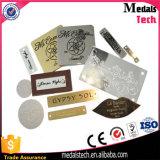 고품질 의복을%s 주문 로고 금속 의류 레이블
