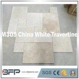 Mattonelle bianche del pavimento & della parete del travertino della Cina per il rivestimento interno & esterno della parete della facciata