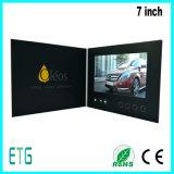 HD/IPS de 7 pulgadas LCD de pantalla de video tarjeta de felicitación de publicidad