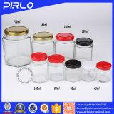 (45ml, 60ml, 80ml) le miel carré en verre cogne le récipient d'entreposage d'herbe de conditionnement des aliments