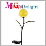 Artesanía de metal barato con LED panel solar de jardín de luz solar juego