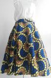 マキシのスカートはアフリカの綿のアンカラのワックスの印刷のスカートを卸し売りする