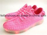 人通気性のLEDはつける靴USBの充電器のスポーツの靴(FFLS0208-01)を