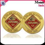 La moneta di oro commemorativa della copia del medaglione di buona qualità con colore ha riempito