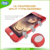360 Grad voll schützen dünnen Plastik mit ausgeglichenes Glas-Handy-Fall für das Plus iPhone 7