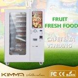 Máquina de Venda Automática de fruta alimentar operado pela tela de toque com sistema refrigerado