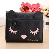 Mulheres Cute Cat Short Card Holder Coin Wallet Bags (BDMC030)