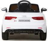 Conduite autorisée par Audi de gosses sur le véhicule avec à télécommande