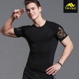 人の体操のための堅いワイシャツのスポーツの摩耗