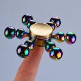 多彩な虹のステンレス鋼ベアリングEDC落着きのなさの紡績工のおもちゃ