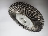 escova atada da roda do fio 4inch de aço com M14X2