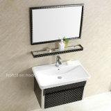 Elegant Black Stainless Steel Bathroom Vanity for Wall