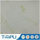 Anti-Pilling bambú luz verde jacquard Tela de colchón