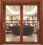 Коммерческие французский алюминия рамы перекрытие стекла сдвижной двери для внутреннего номера