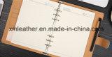 Journal journal personnalisé en cuir Le cuir avec boucle de plumes