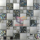 水晶およびMetal Mixed Stainless Steel Glass Mosaic Tile (CFM763)