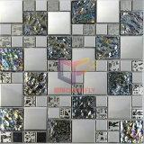 الكريستال والمعادن مختلط الفولاذ المقاوم للصدأ زجاج فسيفساء البلاط (CFM763)