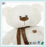 Enorme Tamanho Huggable Urso macio branco Urso sentado de pelúcia brinquedo para crianças