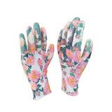 プライベートラベル13Gポリエステルニトリルの庭の手袋中国製