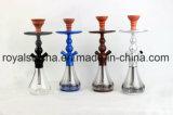 Nuevo Diseño de lujo mayorista China fabricante de aluminio narguile Hookah manguera Shisha mediana Portable