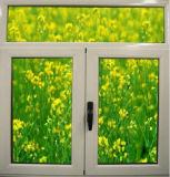 Застекленное двойником алюминиевое окно Casement для селитебной дома (ACW-005)