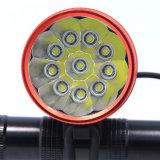 방수 18000lm 최대 차가운 백색 원사 Xml 10 LED 크리 사람 T6 자전거 빛