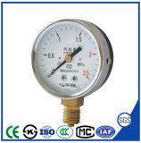 Manomètre de pression d'oxygène manomètre avec de bonnes ventes
