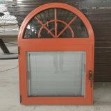 Ventana de aluminio de la rotura termal con la ventana de madera interior del revestimiento