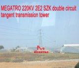 Doppia torretta della trasmissione di tangente del circuito di Megatro 220kv 2e2 Szk