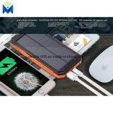 côté duel portatif d'énergie solaire de 10000mAh USB avec l'éclairage LED avec la batterie Emergency de boussole à l'extérieur