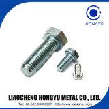 Boulon Hex fileté de haute résistance du fournisseur M16-M30 de la Chine plein