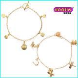 中国の新しい方法カスタム卸売は金の宝石類のブレスレットを魅了する